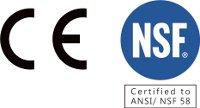 Certificiation CE et NSF des réserves sous pression